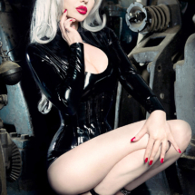 ELENA VLADI - RED QUEEN - SILVER HAIR GIRL - RUSSIAN MODEL